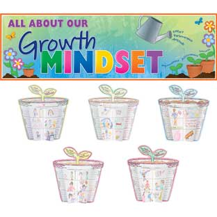 Ready-To-Decorate® 3-D Growth Mindset Bulletin Board Set