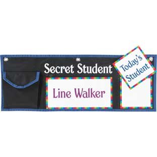 Secret Student Behavior Management System - 1 pocket chart, 42 cards