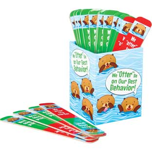 """Otter"" Be On Our Best Behavior Management Sticks - 20 sticks, 1 box"