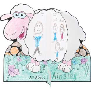 Ready-To-Decorate® About Me 3-D Sheep - 24 sheep