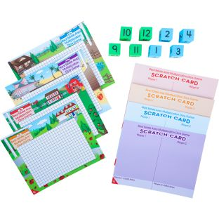 Real Estate Area Multiplication Dice Game - 1 game