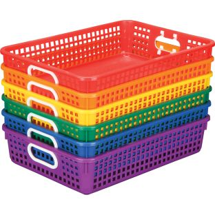 Group Colors For 6 - Classroom Paper Baskets - 6 baskets