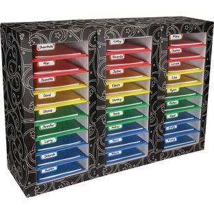 Classroom Mail Center – 27 Slot, 4-Color Grouping