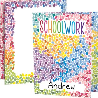 Colorful Drops Schoolwork Tri-Fold 3-Pocket Folders - 12 folders