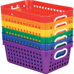 Group Colors For 6 - Book Baskets, Medium Rectangle - 6 baskets