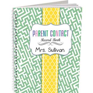 Parent Contact Record Book - Couture Style - 1 record book, 49 tabs