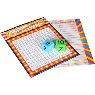 Carnival Coordinates Dice Game - 1 game