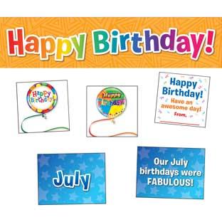 Celebrating Birthdays Space-Saver Pocket Chart™ Cards Refill