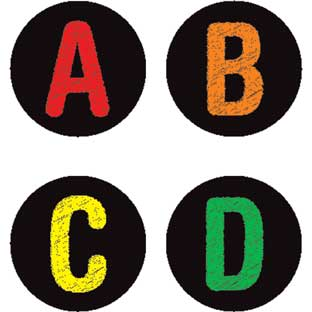 Chalkboard-Style Alphabet And Number Labels - 36 labels