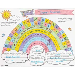 Ready-To-Decorate® Rainbow Letter Arc Posters - 24 posters