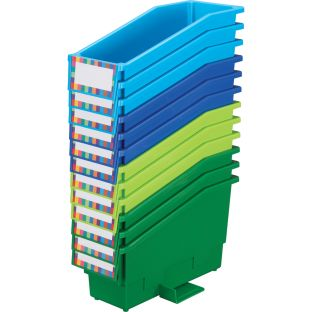 Durable Book And Binder Holders With Stabilizer Wings - Riverside 12-Pack