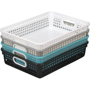 Classroom Paper Baskets - Neutral Colors - 4 baskets