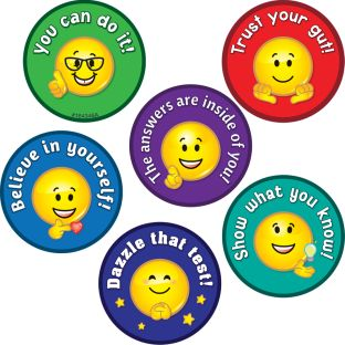 Emoji Testing Encouragement Stickers - 108 stickers