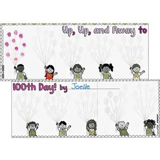 Ready-To-Decorate® Up, Up, And Away To 100th Day! Posters - 24 posters