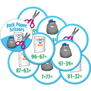 Rock, Paper, Scissors Math Game - Addition And Subtraction Through 100