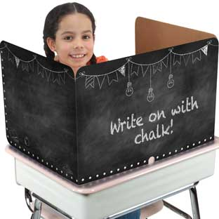 Really Good Stuff® Privacy Shields  - Chalkboard Black
