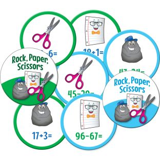 Rock, Paper, Scissors Math Games - Primary Set
