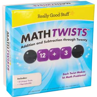 Math Twists™ - Addition And Subtraction Through Twenty - 10 twisters