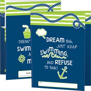 Tri-Fold 3-Pocket Nautical Folders