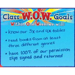 W.O.W. Goals Poster - 1 poster
