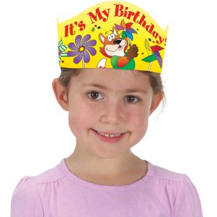 It's My Birthday! Pinwheels Crowns - 12 crowns