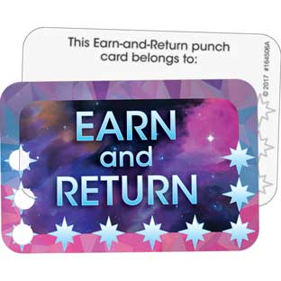 Galaxy-Themed Earn-And-Return Punch Cards