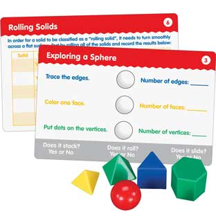 Geometric Solids And Task Cards Kit