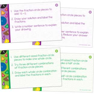 Fraction Circles Task Cards - 22 cards