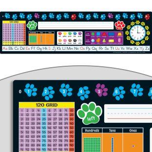 Paw Prints Self-Adhesive Deluxe Plastic Desktop Helpers™