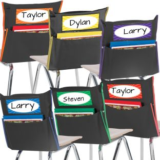 Store More® Black Grouping Chair Pockets - Set Of 6