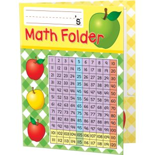 Basic Math Skills 2-Pocket Folders - 12 folders