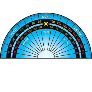 EZ Stick™ Floor Protractor - 1 floor decal