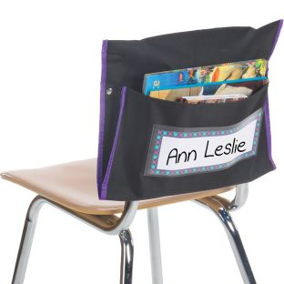 Student Book Collection Chair Pockets - Set Of 36