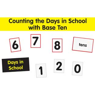 Counting The Days With Base Ten Pocket Chart™ Cards Refill - 67 cards