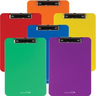 Group-Color Plastic Clipboards - 6 Colors