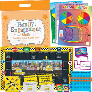 Family Engagement Math - Practice, Solve and Play Pack - Fourth Grade