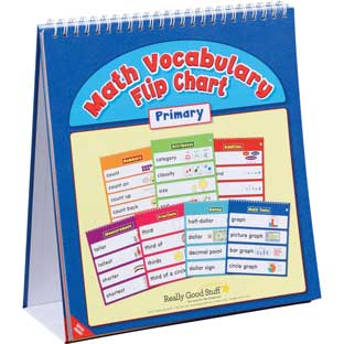 Math Vocabulary Flip Chart - Primary - 1 flip chart