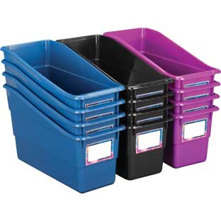 Galaxy Durable Book And Binder Bins - 12 bins, 36 labels