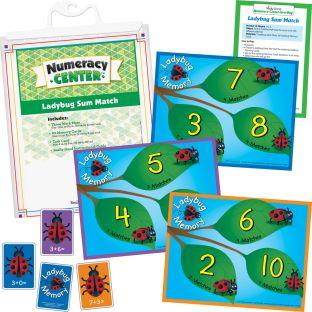 Ladybug Sum Match Numeracy Center™ - 1 numeracy center
