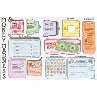 Ready-To-Decorate® Money Madness Jumbo Lift-A-Flaps - 24 posters