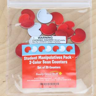 Student Manipulatives Pack - 2-Color Bean Counters