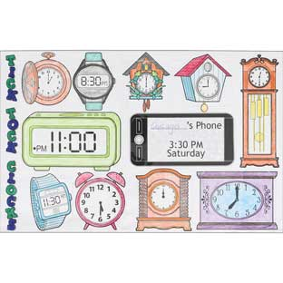 Ready-To-Decorate® Tick Tock Clocks Jumbo Lift-A-Flaps - 24 posters