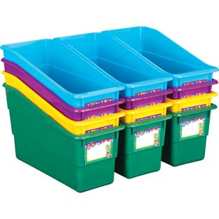 Cool-To-The-Core Durable Book And Binder Bins