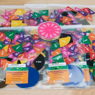 Teacher And Student Manipulatives Kit - Fraction Circles