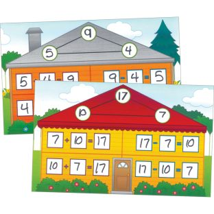 Fact Families Math Mats - 24 mats