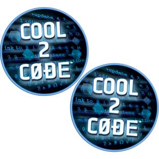 Cool 2 Code™ Stickers - 36 stickers