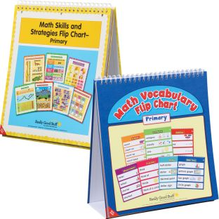 Math Vocabulary And Skills Strategy Flip Charts Kit - 2 flip charts