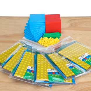 Teacher And Student Manipulatives Kit - Base-10 Blocks - 1 multi-item kit