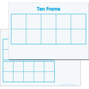 Ten-Frame/Double Ten-Frame Magnetic Dry Erase Mats™ - 3 mats