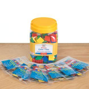 Teacher And Student Manipulatives Kit - Square Color Tiles - 1 multi-item kit